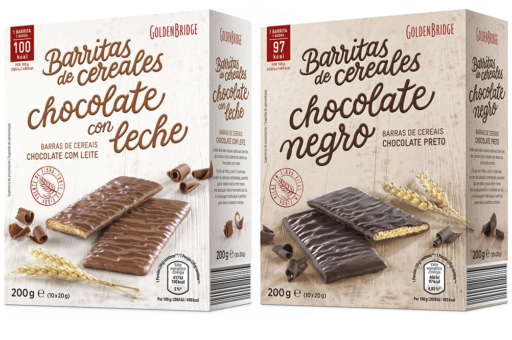 GoldenBridge, barritas chocolateadas