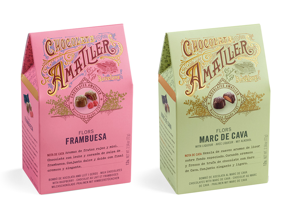Amatller Chocolate Flower Boxes