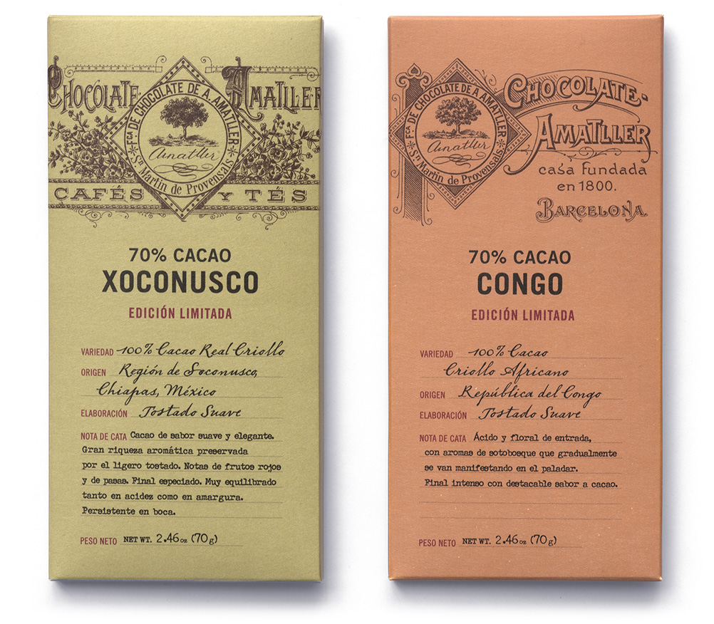 Single origins chocolate bars