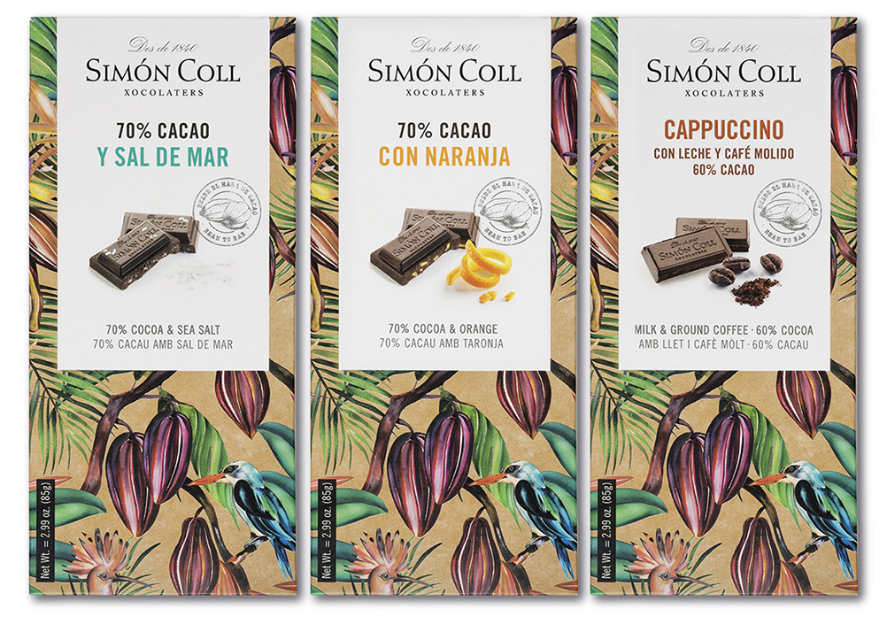 Chocolate bars with flavours