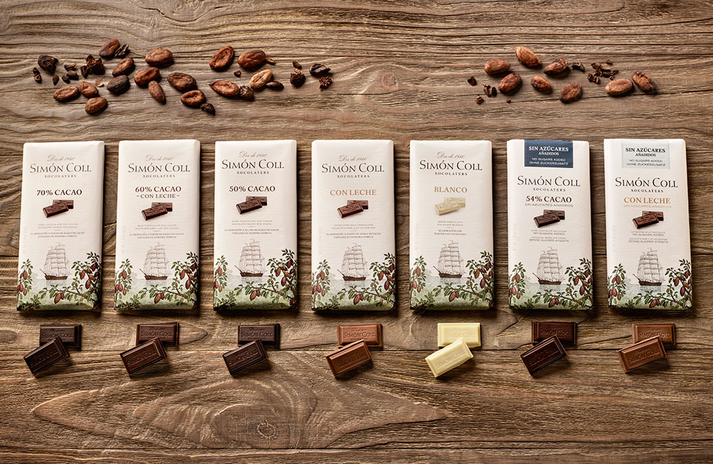 New Simón Coll chocolate bars